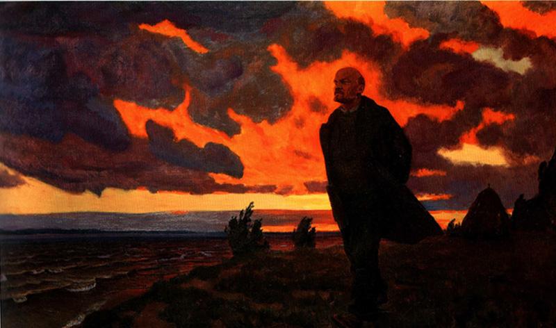 В.И.Ленин в Разливе в 1917 году (А. Рылов. 1934)